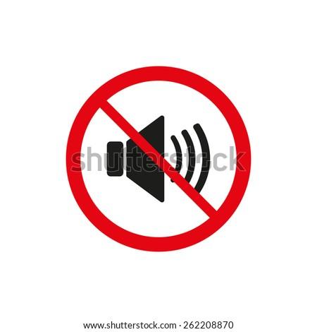 The no sound icon. Volume Off symbol. Flat Vector illustration - stock vector