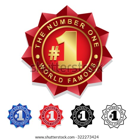 The Number One #1 Seal Badge - stock vector
