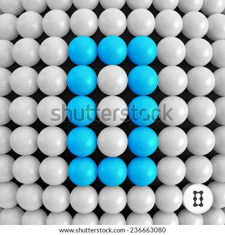 The number zero. Abstract mathematics background. 3d vector illustration.   - stock vector