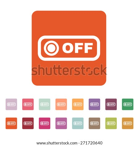 The off button icon. Off switch symbol. Flat Vector illustration. Button Set - stock vector