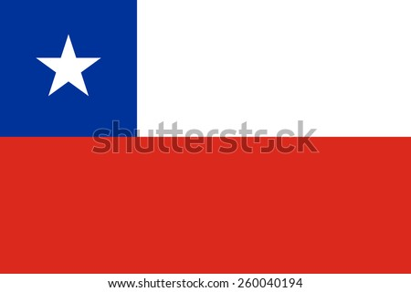 The official flag of Chile in both color and proportions - stock vector