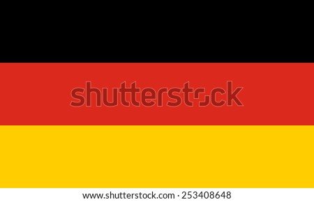 The official flag of Germany in both sze and color, Also known as Bundesflagge und Handelsflagge - stock vector