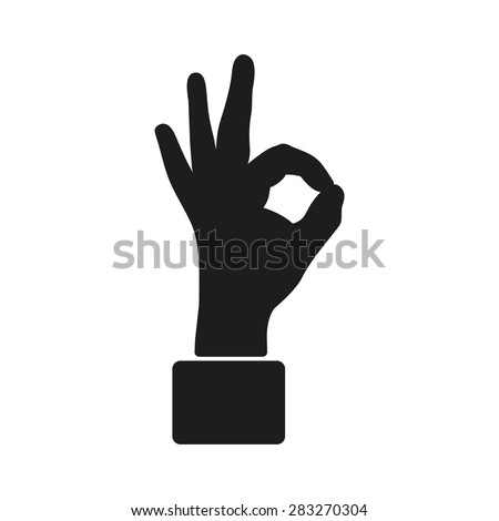 The OK icon. Okay symbol. Flat Vector illustration - stock vector