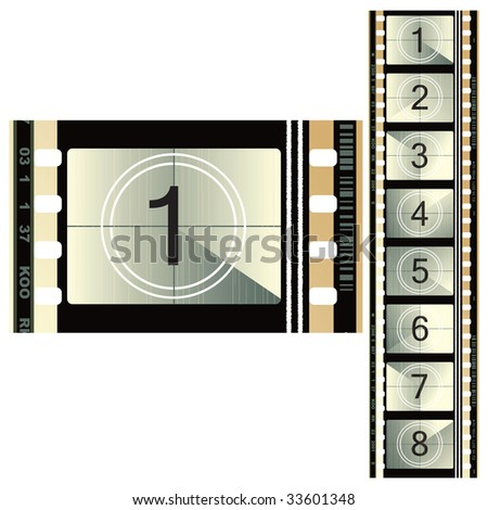 The old film for decoration. - stock vector