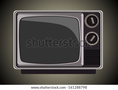 The old TV  - stock vector