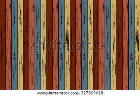 The Old Vintage color of wood panel, Concept for wooden background