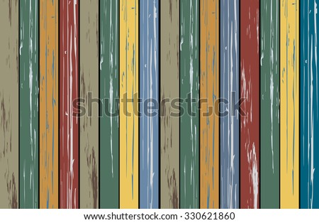 The Old Vintage color of wood panel, Concept for wooden background - stock vector