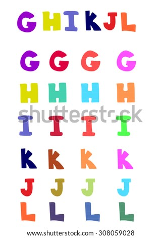 The original decorative letter vector illustration - stock vector