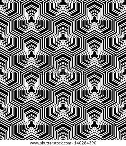 The original geometric pattern. Black, white texture. Seamless vector background.