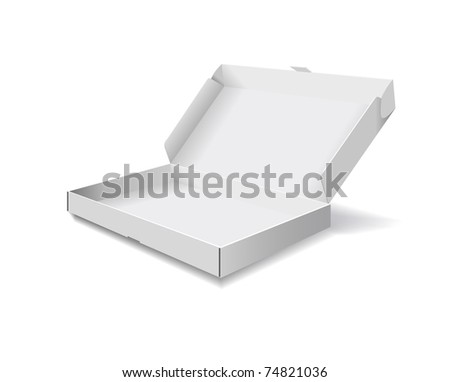 The packaging box is shown in the picture. - stock vector