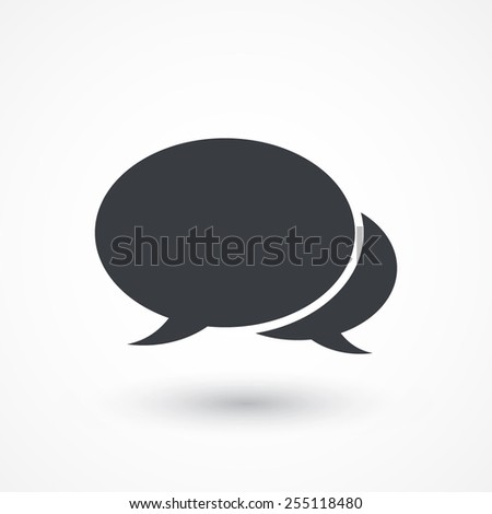 The pair of speech bubbles. Social icons. Flat style design - stock vector