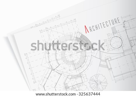 The part of architectural project - stock vector