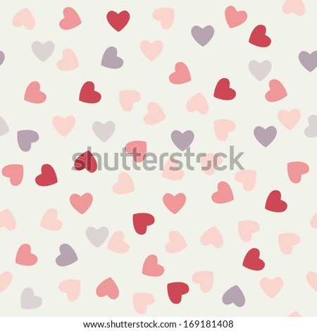 the pattern of hearts to Valentine's day