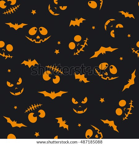 The pattern with muzzles; Day of the Dead; Halloween