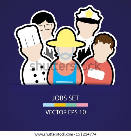 the people job set ,Illustration eps 10 - stock vector