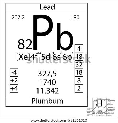 Periodic table element lead basic properties stock vector 531261310 the periodic table element lead with the basic properties urtaz Choice Image
