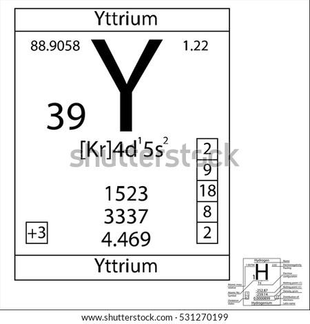 Periodic table element yttrium basic properties stock vector hd the periodic table element yttrium with the basic properties urtaz Choice Image