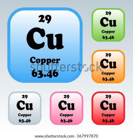 Periodic table elements copper stock vector 367997870 shutterstock the periodic table of the elements copper urtaz Choice Image