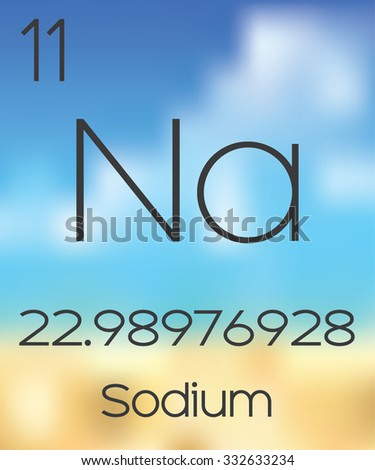 The Periodic Table of the Elements Sodium - stock vector