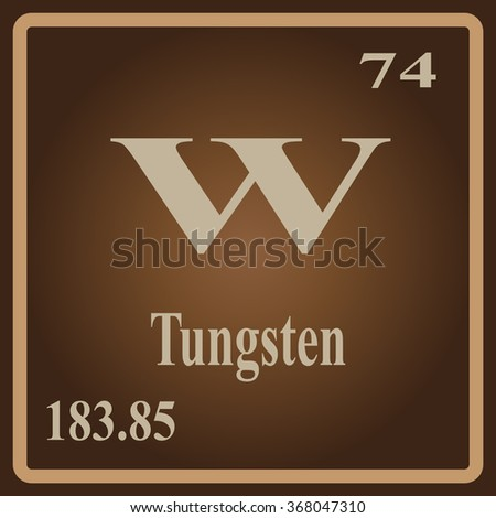 Periodic table elements tungsten stock vector 368047310 shutterstock the periodic table of the elements tungsten urtaz Choice Image