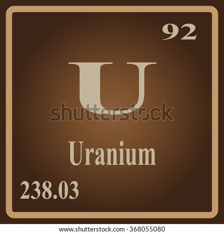 Periodic table elements uranium stock vector 368055080 shutterstock the periodic table of the elements uranium urtaz Choice Image