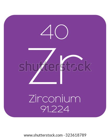 Periodic table elements zirconium stock vector 323618789 the periodic table of the elements zirconium urtaz Gallery