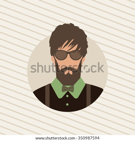 the person's face. hipster style. fashion background