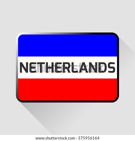 The plate with the flag of the Netherlands