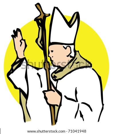 pope blessing stock vector 71041948 shutterstock rh shutterstock com blessing clipart free blessings clip art images