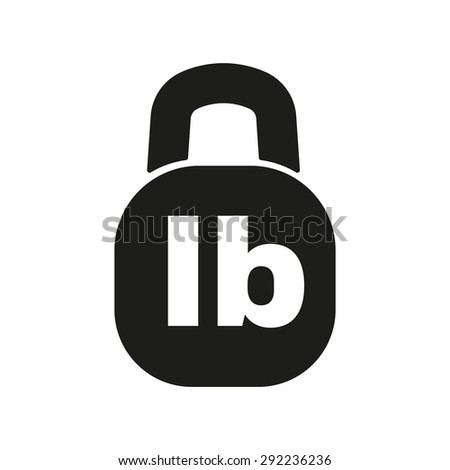 Pound Icon Lb Weight Symbol Flat Stock Vector 2018 292236236