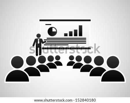 The Presentation - stock vector
