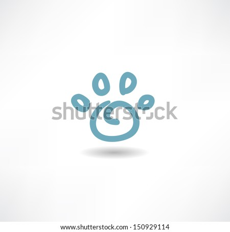 The print icon dog leg - stock vector