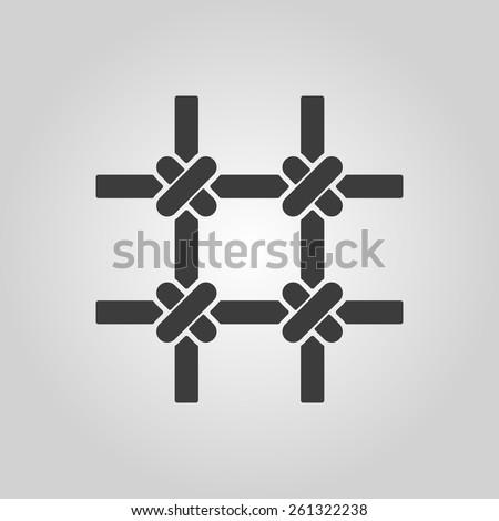 The prison bars icon. Grid symbol. Flat Vector illustration - stock vector