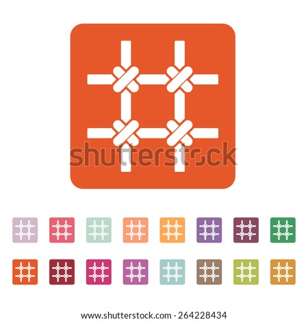 The prison bars icon. Grid symbol. Flat Vector illustration. Button Set - stock vector