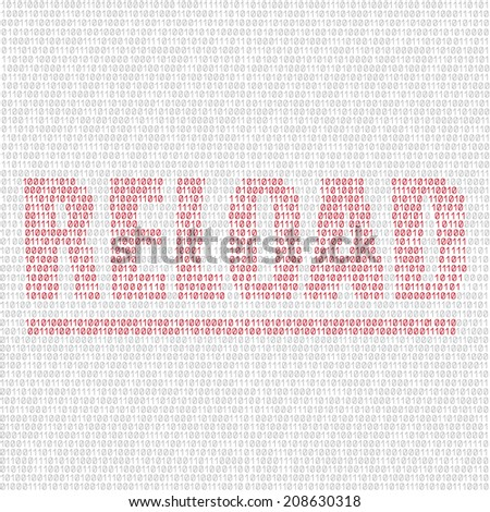 The programming code on the light background and the text reload - stock vector