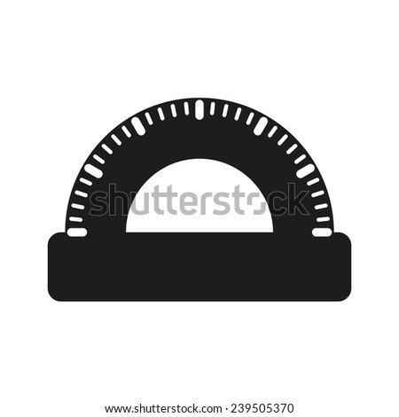 The protractor icon. Protractor symbol. Flat. Vector illustration - stock vector