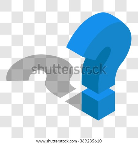 the question mark in the isometric - stock vector