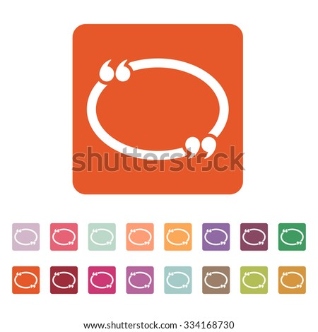 The Quotation Mark Speech Bubble icon. Quotes, citation, opinion symbol. Flat Vector illustration Button Set - stock vector