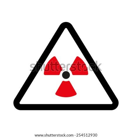 The radiation icon. Radiation symbol. Flat Vector illustration - stock vector