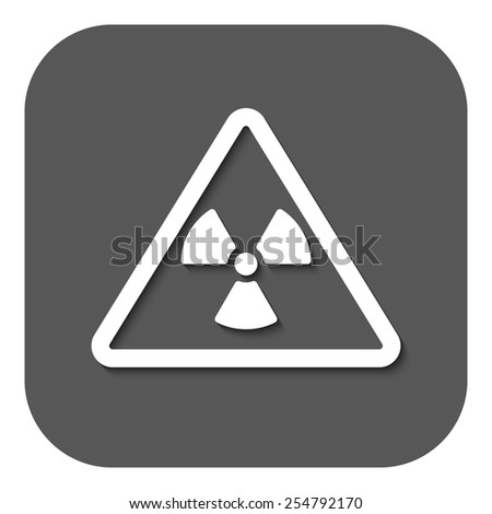 The radiation icon. Radiation symbol. Flat Vector illustration. Button - stock vector