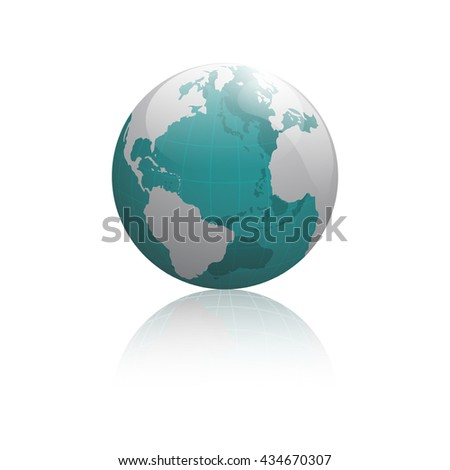 The real earth mirror reflex vector illustration