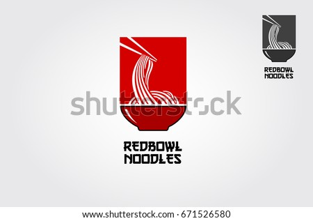 Red bowl noodles logo templates suitable stock vector 671526580 the red bowl noodles logo templates suitable for any business related to ramen noodles wajeb Image collections