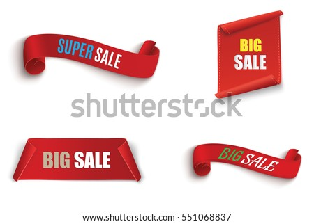 the red scroll.super sale.set of banners.