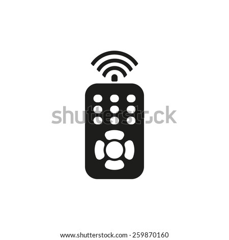 The remote control icon. Remote Control symbol. Flat Vector illustration - stock vector