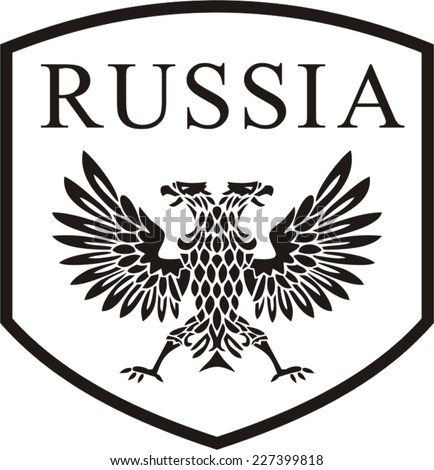 The Russian two-headed eagle - stock vector