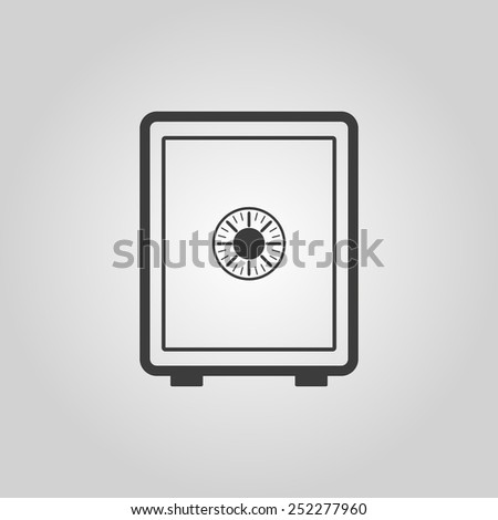 The safe icon. Safe symbol. Flat Vector illustration - stock vector