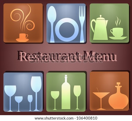 The sample of the menu for restaurant - stock vector