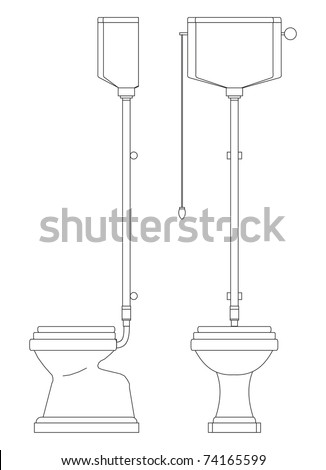 The sanitary technician for a toilet room - stock vector