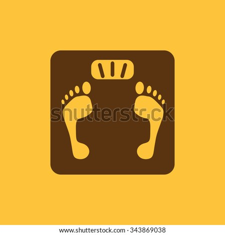 The scales icon. Scales symbol. Flat Vector illustration - stock vector