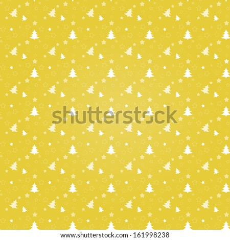 The seamless abstract Xmas background / The Christmas tree background / The seamless Noel background  - stock vector